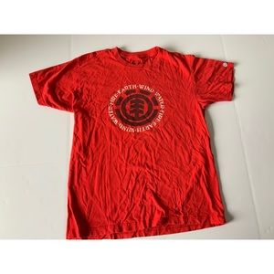 Element Men's Red Tee Sz M